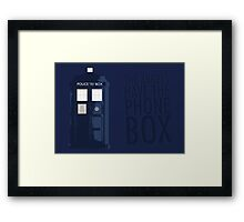 Blue Tardis Framed Print