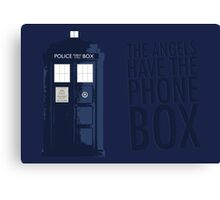 Blue Tardis Canvas Print