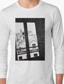 Through my Paris window, 2011, 50-70, crayon Long Sleeve T-Shirt
