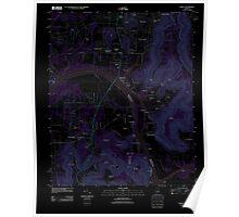 USGS TOPO Map Alabama AL Farley 20110921 TM Inverted Poster