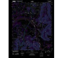 USGS TOPO Map Alabama AL Farley 20110921 TM Inverted Photographic Print