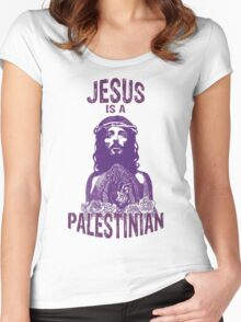 Jesus is a Palestinian Women's Fitted Scoop T-Shirt