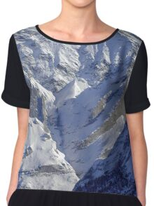 Grindewald Winter Scene Chiffon Top