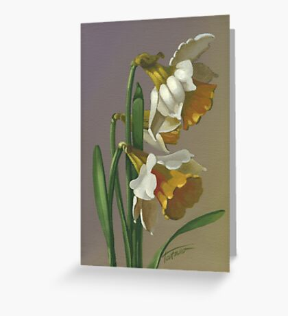 Daffodils - acrylic on canvas Greeting Card
