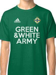 Green and White Army  Classic T-Shirt