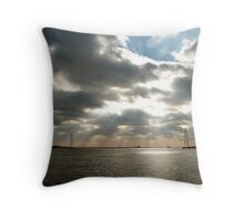 Rays over water Throw Pillow