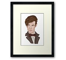 Doctor WHO 11 Eleventh Doctor Framed Print