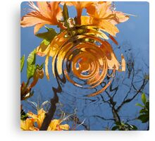 Flame Azalea Reflections Canvas Print