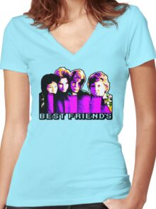 Best Friends - Never Say Die Women's Fitted V-Neck T-Shirt
