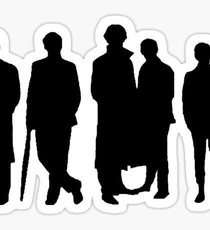 Sherlock Silhouette Sticker