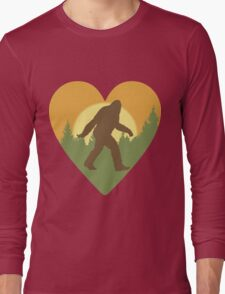 Bigfoot Heart Long Sleeve T-Shirt