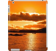 boats in a quiet bay at sunset iPad Case/Skin