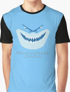 Fish Are Friends Not Food Graphic T-Shirt