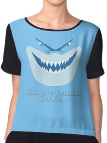 Fish Are Friends Not Food Chiffon Top