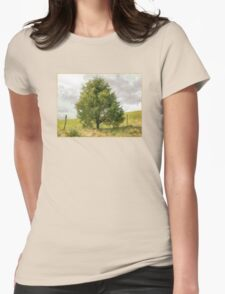 Fence Tree Womens Fitted T-Shirt