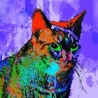 Abstract Cat by AspenWillow