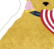 Preppy Patriotic Yellow Lab Sticker