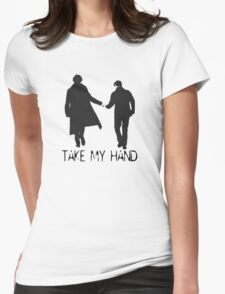 Take My Hand Womens Fitted T-Shirt