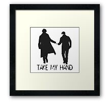 Take My Hand Framed Print