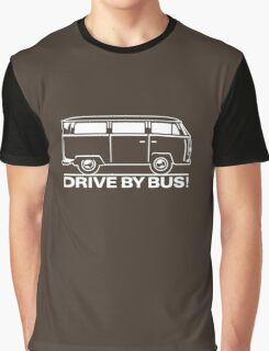 Drive by Bus 2 (white) Graphic T-Shirt
