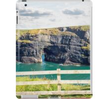 red and blue seat view of the virgin rock iPad Case/Skin