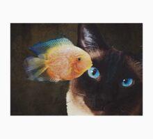 Wishful Thinking 2 - Siamese Cat Art - Sharon Cummings Kids Tee