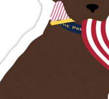 Preppy Patriotic Chocolate Lab Sticker