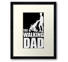 The Walking Dad Baby Carriage Framed Print