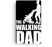 The Walking Dad Baby Carriage Canvas Print