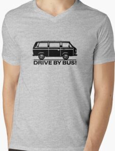 Drive by Bus 3 (black) Mens V-Neck T-Shirt