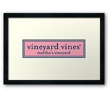 vineyard vines logo Framed Print