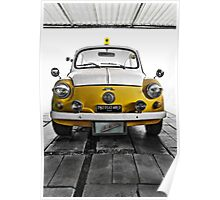 FIAT 600D - 1963 Yellow Poster