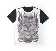 Skull Wolf Graphic T-Shirt