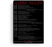 TV Show: NCIS (Gibbs Rules) Canvas Print