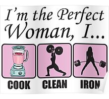 Perfect Woman (Clean Cook, Iron) Poster
