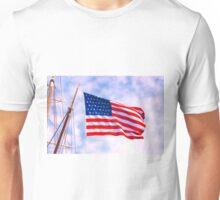 Mystic Memorial Day Flag Unisex T-Shirt