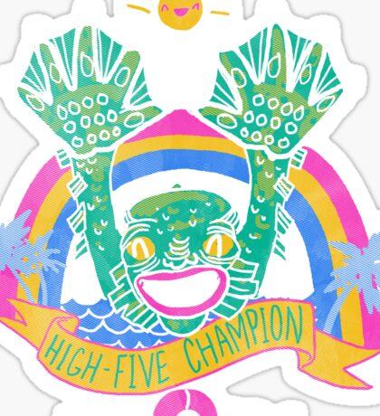 High-Five Champion Sticker