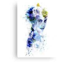 The Blue Woman Canvas Print