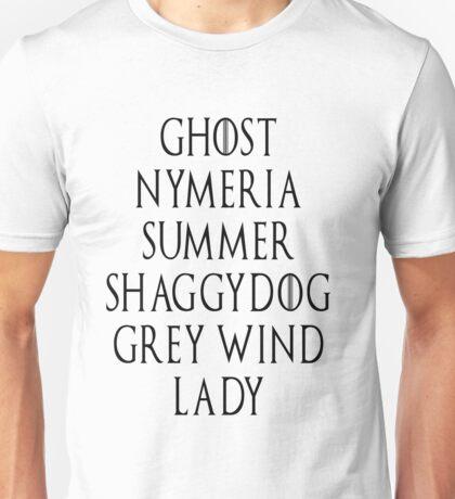 Dire Wolf list Unisex T-Shirt