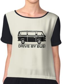Drive by Bus 3 (black) Chiffon Top