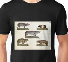 Naturgeschichte in Bildern mit erläuterndem Text E Strack 1820 Lief 1 Mammals 022 Unisex T-Shirt
