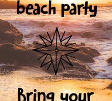 Losgar Beach Party Sticker