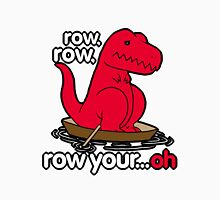 Row your boat T-Rex! Womens Fitted T-Shirt