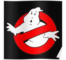 old school logo ghostbuster Poster