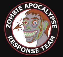 Zombie Apocalypse Response Team Funny Cartoon Kids Tee
