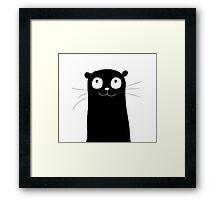 An amusing otter Framed Print