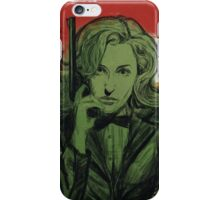 Gillian Anderson is Double-O Seven iPhone Case/Skin