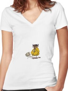 gnu Women's Fitted V-Neck T-Shirt
