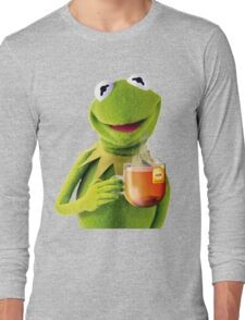 Kermit Sips Tea Long Sleeve T-Shirt