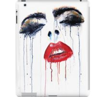Vogue - glossy lips and heavy lashes iPad Case/Skin